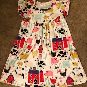 Girls barnyard dress size 4T